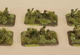 Battle Front US 81mm Mortar Group gaming minatures by Dale Amsbaugh